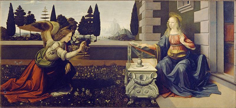 :eonardo da Vinci  Annunciation