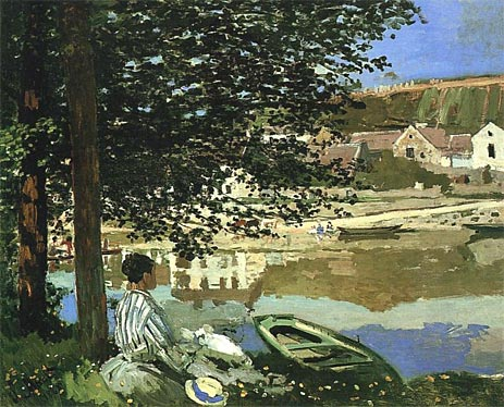 On the Bank of the Seine Claude Monet