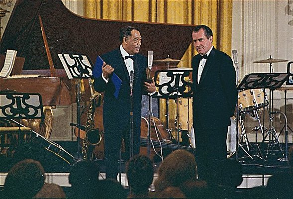Duke Ellington and President Nixon,