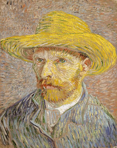 Self-Portrait with Straw Hat Van Gogh