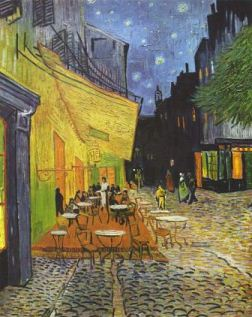 The Cafe Terrace on the Place du Forum, Arles, at Night van Gogh